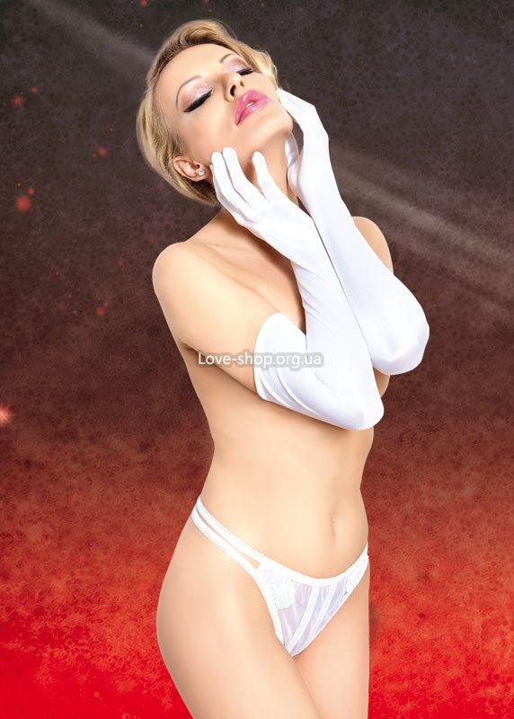 Satin Gloves 7702 {} white/ SL