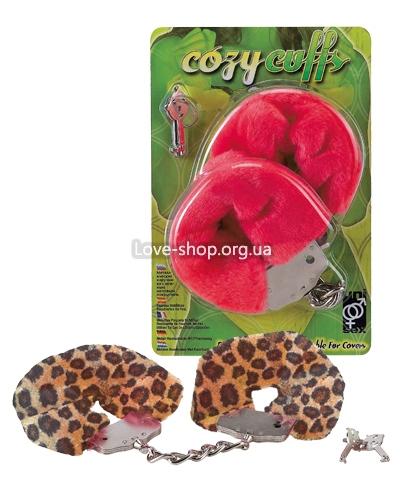 Леопардовые наручники Cosy Cuffs, купить в Киеве, Секс шоп мага